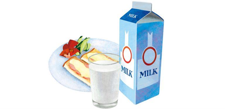 北海道食のパンフレット牛乳